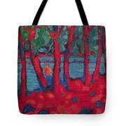 Red Woods Tote Bag