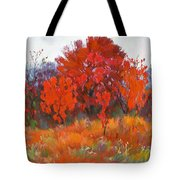 Red Woods Painting Tote Bag