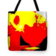 Red Yellow Abstract Tote Bag
