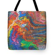 Red Yellow Blue Abstract Tote Bag