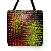 Red Yellow White Black Abstract Tote Bag