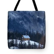 Redcloud Chapel In Blue Tote Bag by David Ackerson