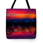 Reddening Sunset Tote Bag