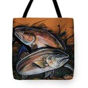 Redfish Frenzy Tote Bag