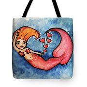 Redhead Mermaid Tote Bag
