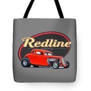 Redline Hot Rod Garage Tote Bag