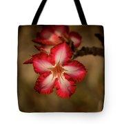 Redwhite Flower Tote Bag
