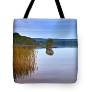 Reeds And An Islet In Lough Macnean Tote Bag