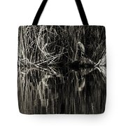 Reeds And Heron Tote Bag