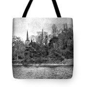 Reeds And Religion Black And White Tote Bag