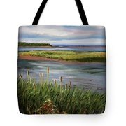 Reeds By The Water Tote Bag