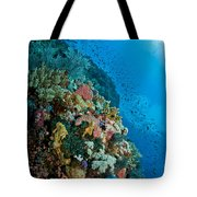 Reef Scene With Corals And Fish Tote Bag