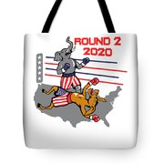 Reelect Trump For President Keep America Great Light Tote Bag