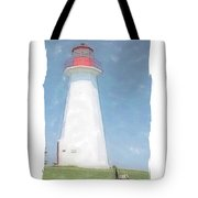 Reflect At Cape George Lighthouse Tote Bag