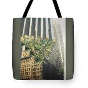 Reflect On Trump Building Tote Bag