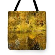 Reflecting On Autumn Leaves Tote Bag