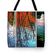 Reflecting On Autumn - Triptych Tote Bag