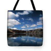 Reflecting On Crater Lake Tote Bag