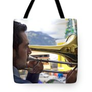 Reflecting On His Music Tote Bag