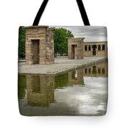 Reflecting On Millennia - Egyptian Temple Of Debod In Madrid Spain  Tote Bag