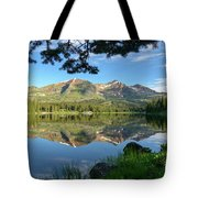 Reflecting On The Ruby Range Tote Bag