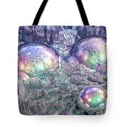 Reflecting Spheres In Space Tote Bag