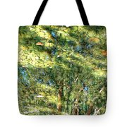 Reflecting Trees On Quiet Pond Tote Bag