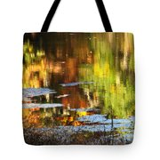 Fall Reflections 5 On Jamaica Pond Tote Bag