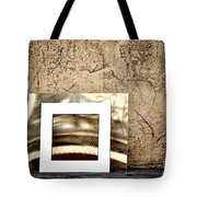 Reflection Against The Wall Tote Bag