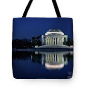 Reflection At Blue Hour Tote Bag