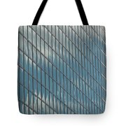 Reflection Clouds On Building Tote Bag