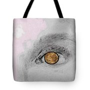 Reflection In A Golden Eye Tote Bag