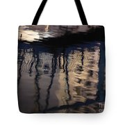 reflection in Eilat marina Tote Bag