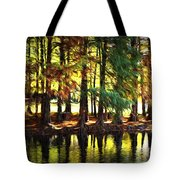 Reflection In Paint Tote Bag