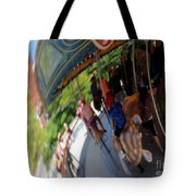 Reflection Of A Merry Go Round Tote Bag