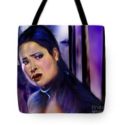 Reflection Of A Movie Scene Tote Bag