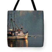 Reflections Of A Nautical Timepiece Tote Bag