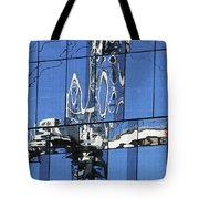 Reflection  Of Crane Tote Bag