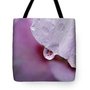 Reflection Of Flowers Tote Bag