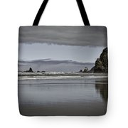 Reflection Of Hay Stack Tote Bag