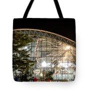 Reflection Of Navy Pier Ferris Wheel Tote Bag