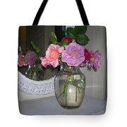 Reflection Of Roses Tote Bag