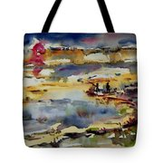 Reflection Of Sunset Glow Tote Bag