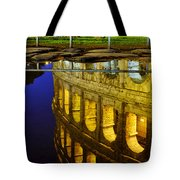 Reflection Of The Colosseum Tote Bag