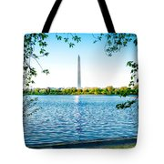 Reflection Of Washington Tote Bag
