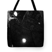 Reflection Of Wet Street Tote Bag