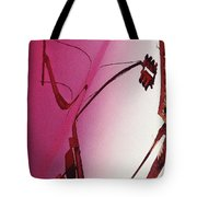 Reflection On A Red Automobile Tote Bag