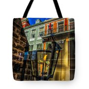 Reflection On Lamp Tote Bag