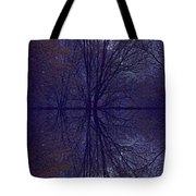 Reflection On Trees In The Dark Tote Bag