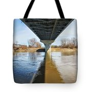 Reflection Shadow In Missouri River Tote Bag